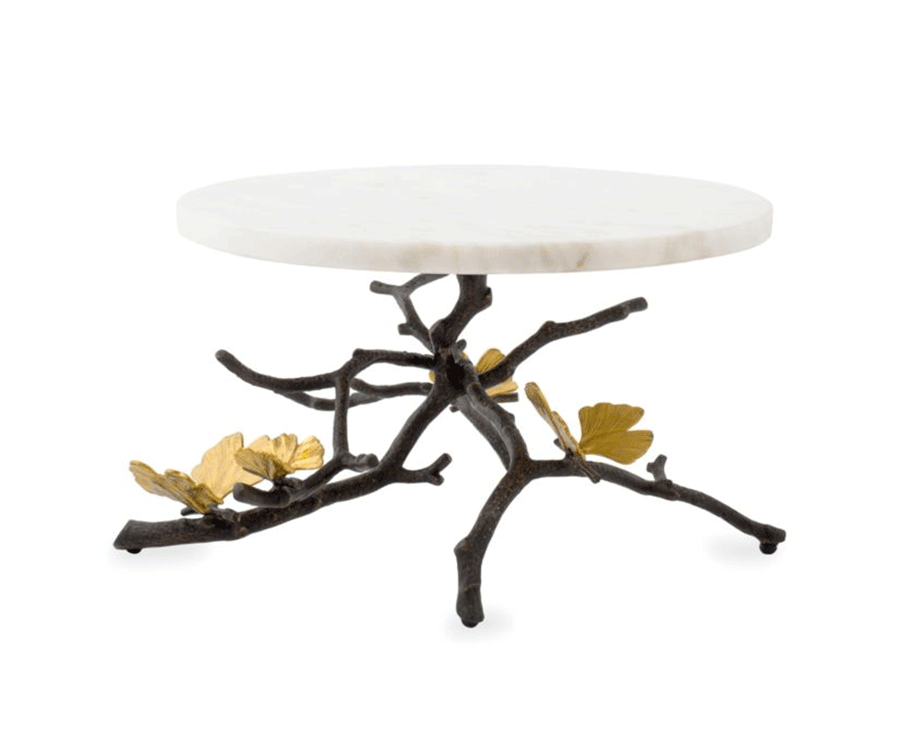 #2 Home Decor Gifts For Her: Butterfly Ginkgo Cake Stand