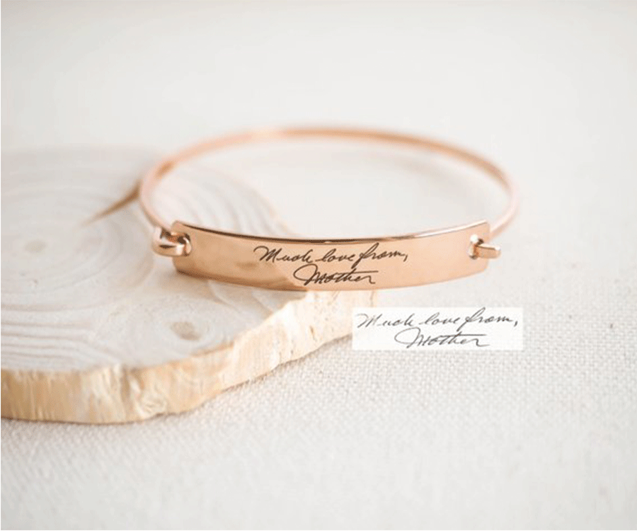 #12 Unique Engraved & Personalized Gifts for her: Engraved Rose Bracelet