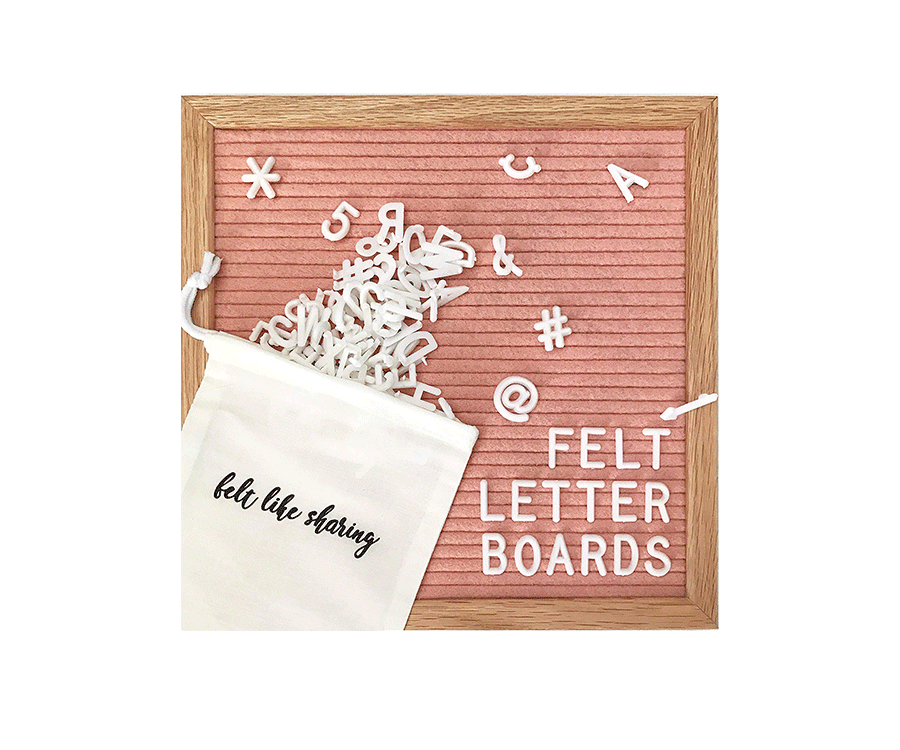 #8 Home Decor Gifts For Her: Felt Letter Board