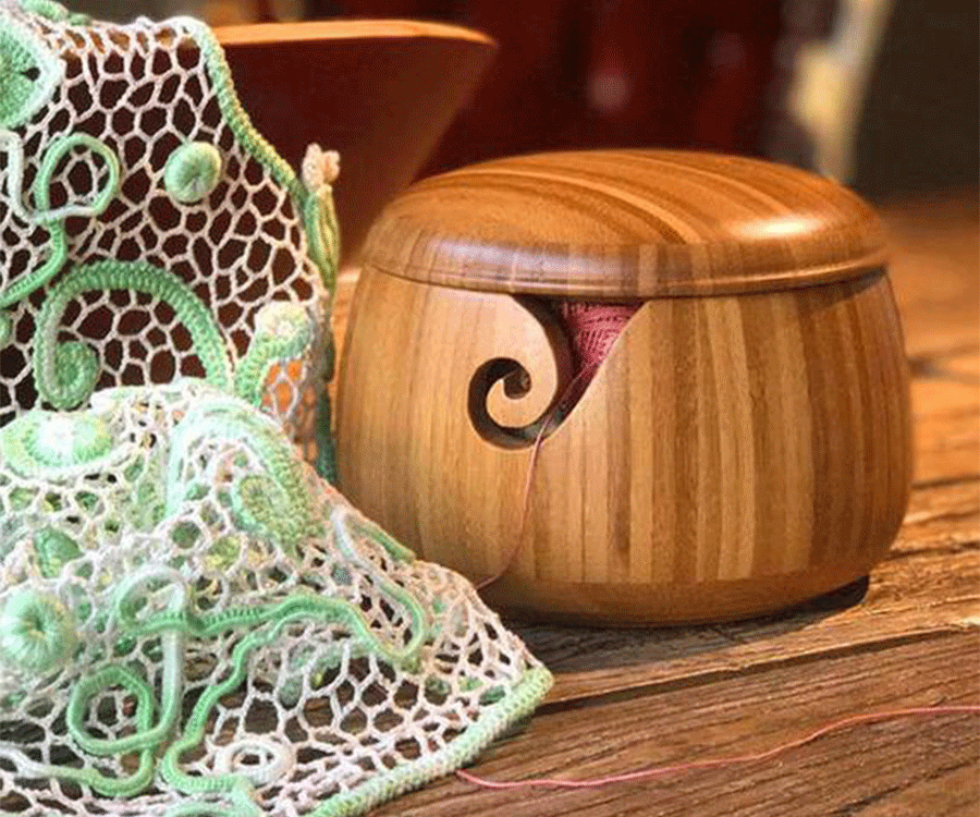 #3 hobby & crafts gifts for her: Bamboo Knitting Bowl