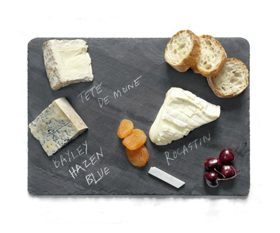 #10 Best Food Gifts For Women:  Slate Cheese Serving Board