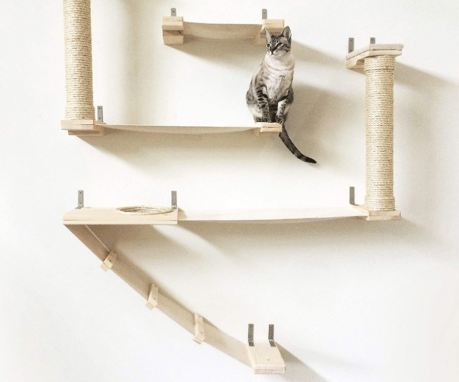 #10 unique gifts for cat lovers: CatastrophicCreations Roman Cat Fort