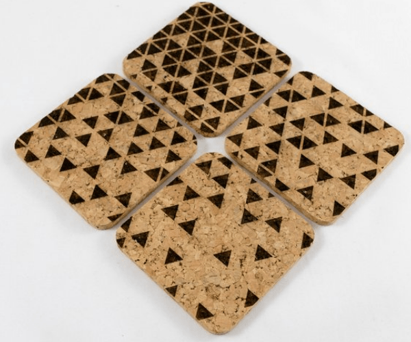#10 Home Decor Gifts For Her: Set of 4 Cork Coasters