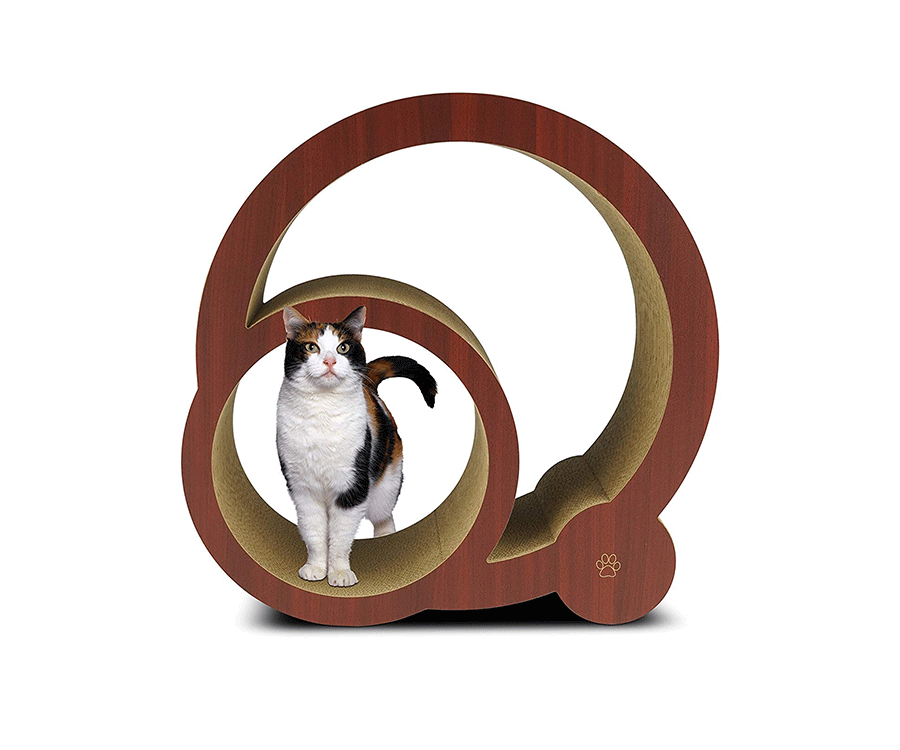#6 unique gifts for cat lovers: Oliver & Iris Curved Cat Scratcher