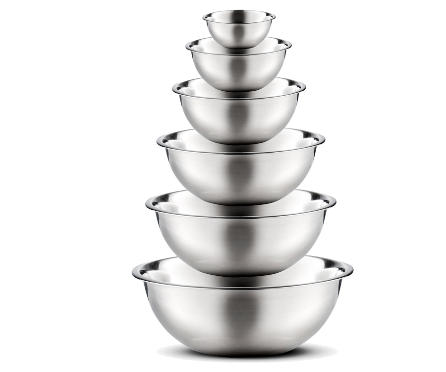 #9 Best Food Gifts for Women: Stainless Steel Mixing & Preparation Bowls