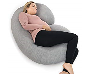C-shaped pregnancy pillow from PharMeDoc, the ideal full body pregnancy pillow gift