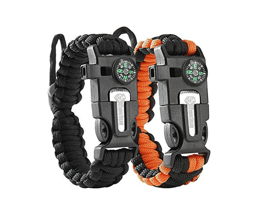 #18 very best gifts for hikers & backpackers: be prepared bracelet