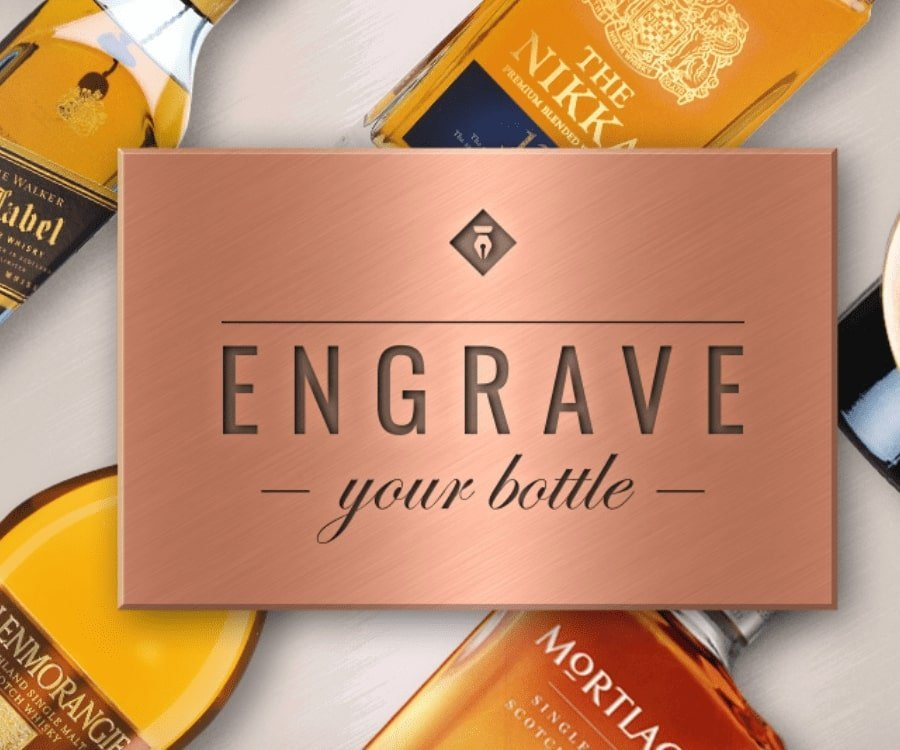 Engrave a special bottle for if a men retires