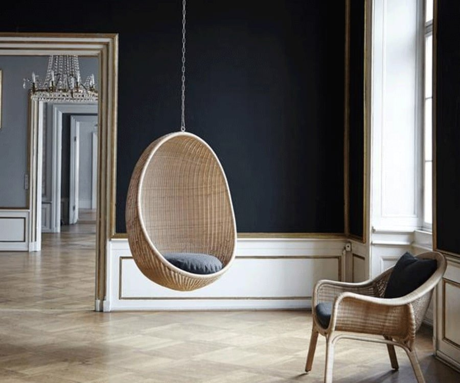 #27 over the top luxury gifts for her: Hanging Egg Chair by Hanna Ditzel