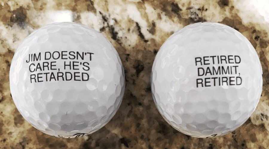Personalized golf dad for a retired dad with a joke