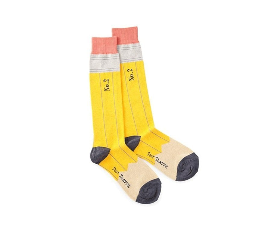 #13 cool gifts for sketch artists: pencil socks