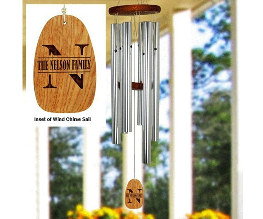 #13 great engraved & personalized gifts for: Personalized Wind Chime