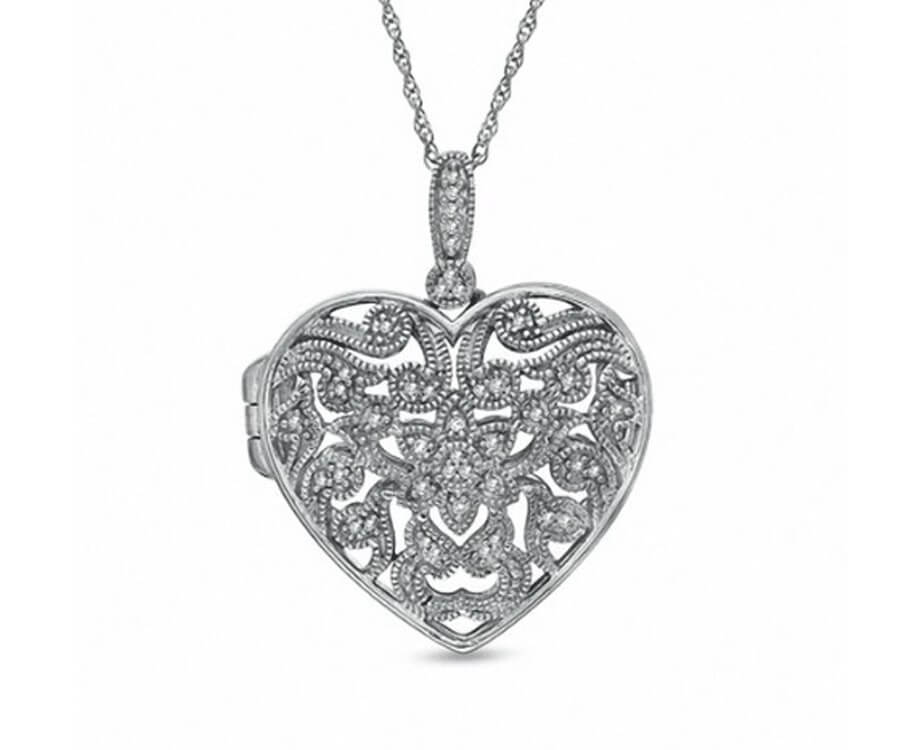 #1 best valentines gifts for her: Silver Sterling Heart Locket
