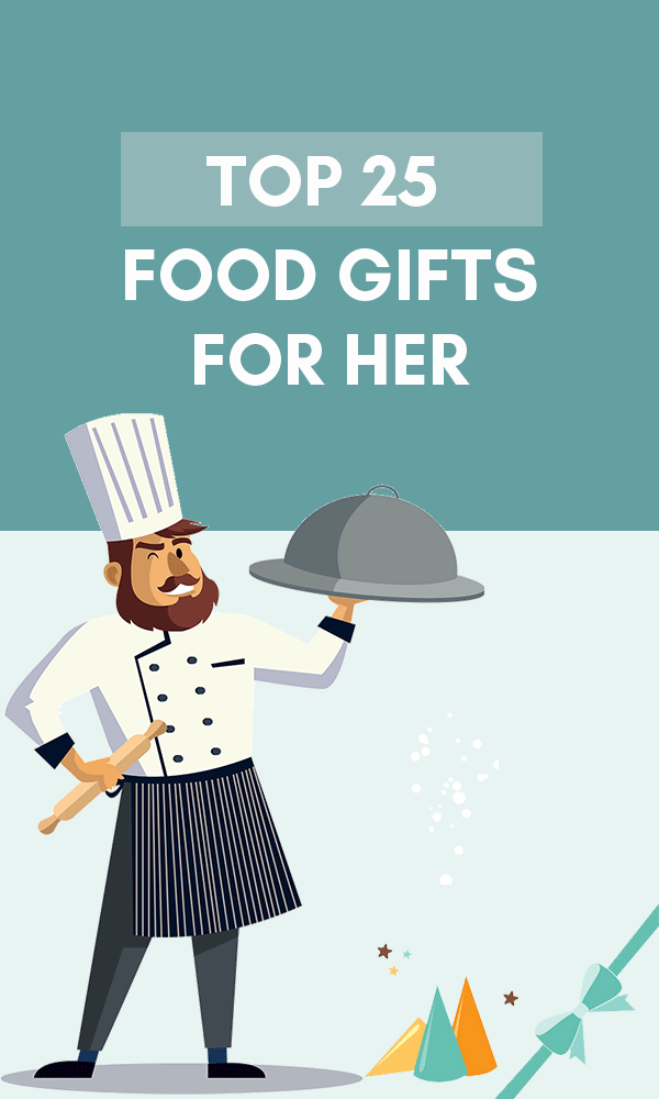 Title Infographic for our top 25 best food related gifts for women