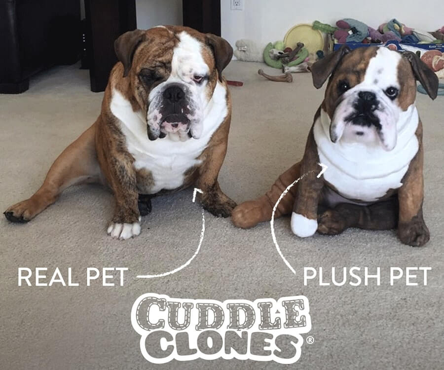 #1 unique & funny gifts for dog lovers: stuffed animal dog clone