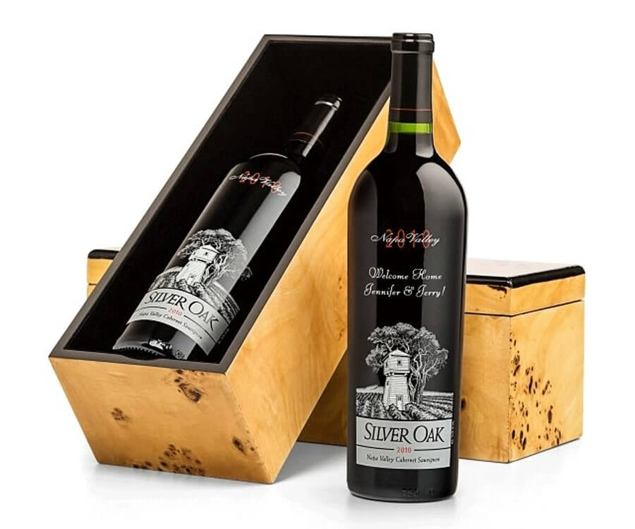 #2 Best Gifts For a foodie: Engraved Wine Bottle