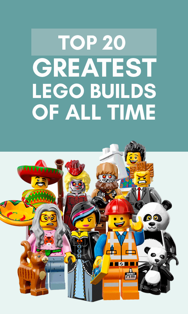 Title Infographic for our top 20 cool Lego gifts for adults