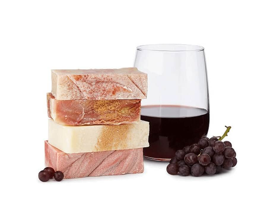 #21 relaxation gifts for her: Wine Soap