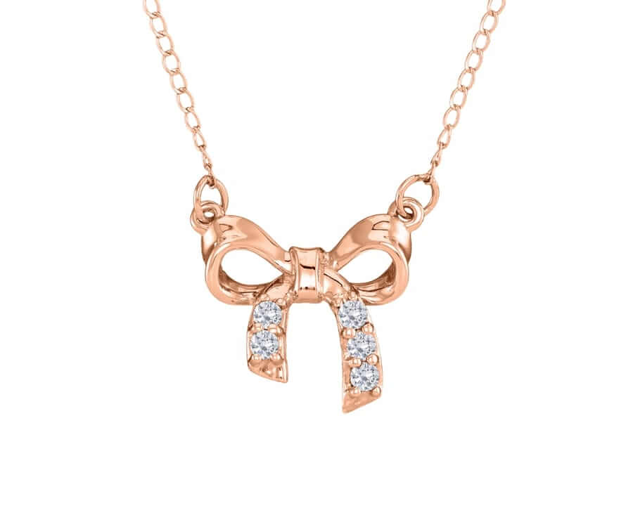 #1 Great Sentimental Gifts For her: birthstone bow necklace