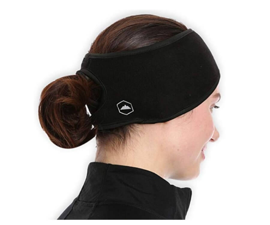 #2 Best Workout Gifts For Her: Ponytail Compatible Headwear Fleece Ear Warmers