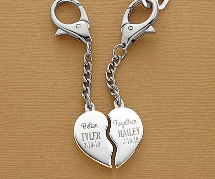 #23 Touching Gifts for women: better together keychain