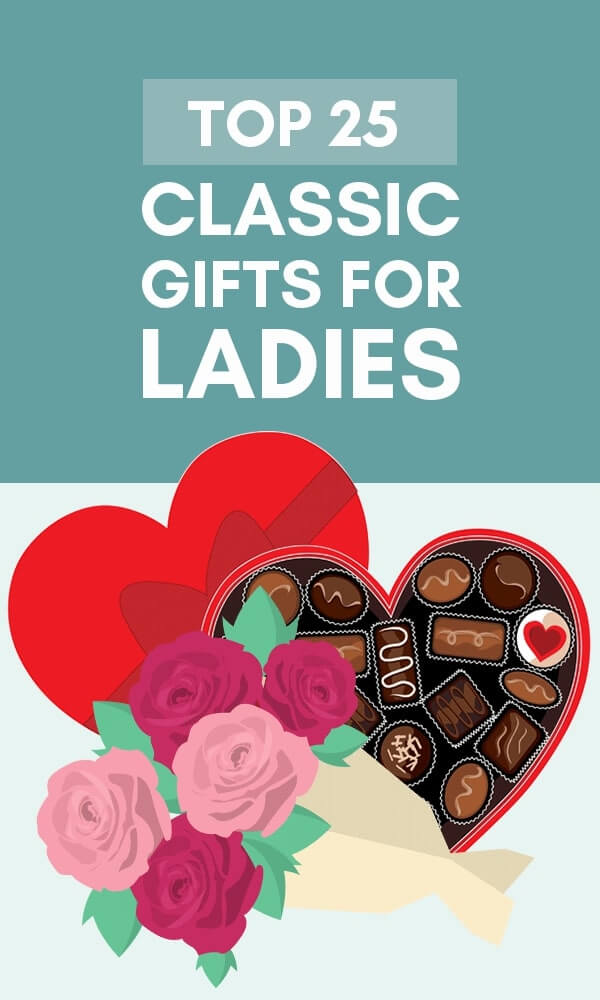 Title Infographic for our top 25 classic gifts for ladies
