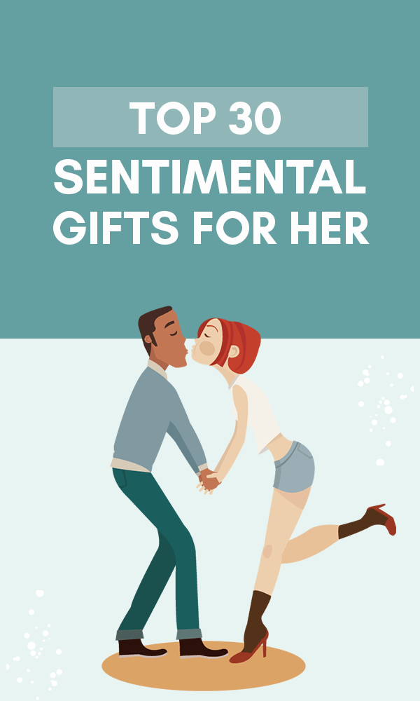 Title Infographic about the top 30 great sentimental gifts for her