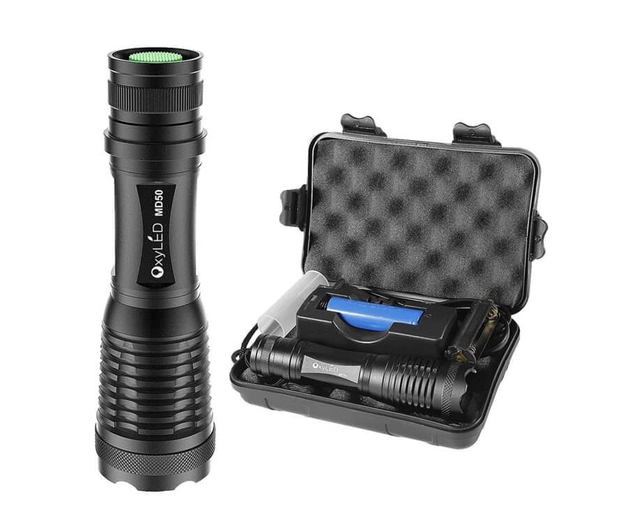 #8 great travel gift ideas for him: compact tactical flashlight