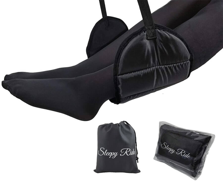 #12 travel gadgets for her: airplane foot rest