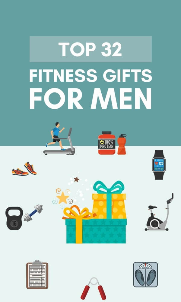 Title Infographic for our top 32 best fitness gifts for men in 2019