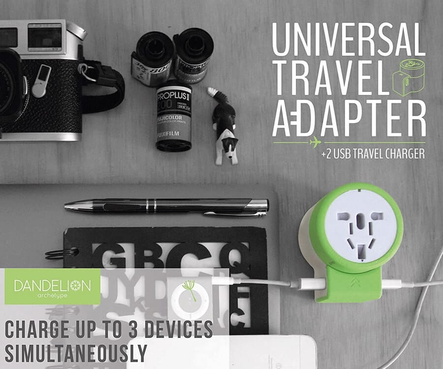 #14 best travel gifts for her: dandelion travel adapter