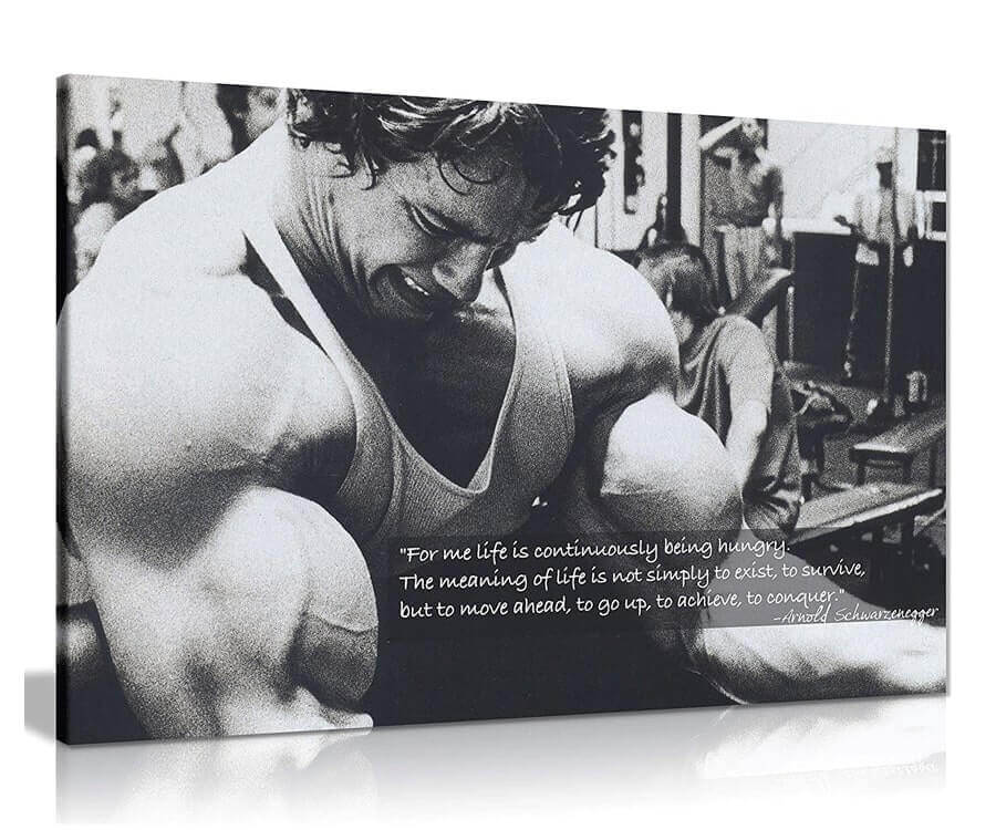#25 gifts for gym lovers: Motivational Canvas