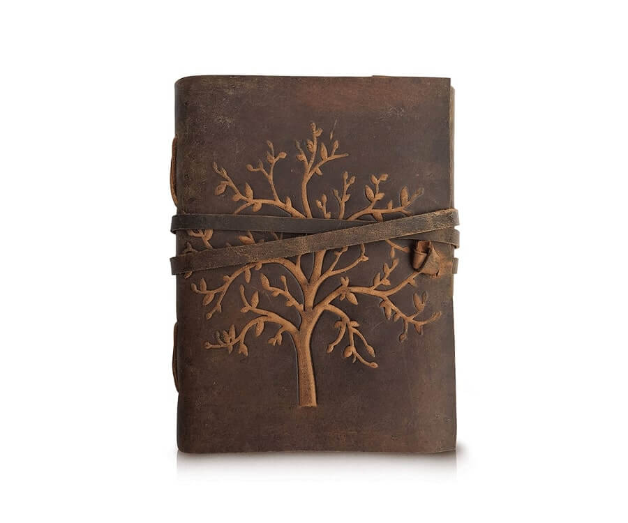 #15 travel presents for her: leather travel journal