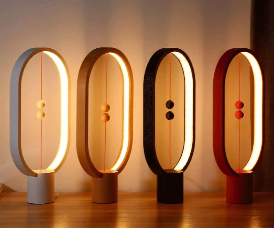 #10 gifts for the woman who has everyhing: wood magnet balance lamp