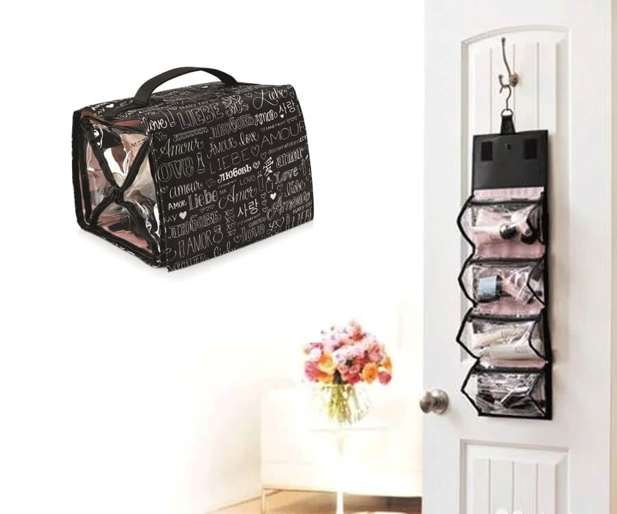 #28 best travel gifts for her: roll up makeup bag