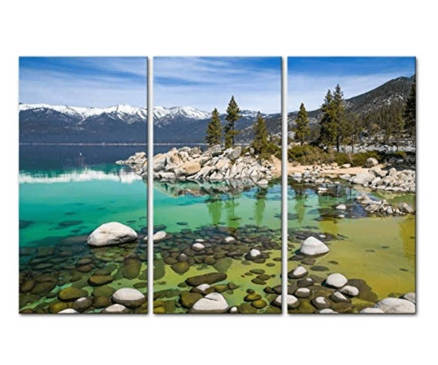 #29 best gifts for kayakers: Lake Tahoe Wall Art