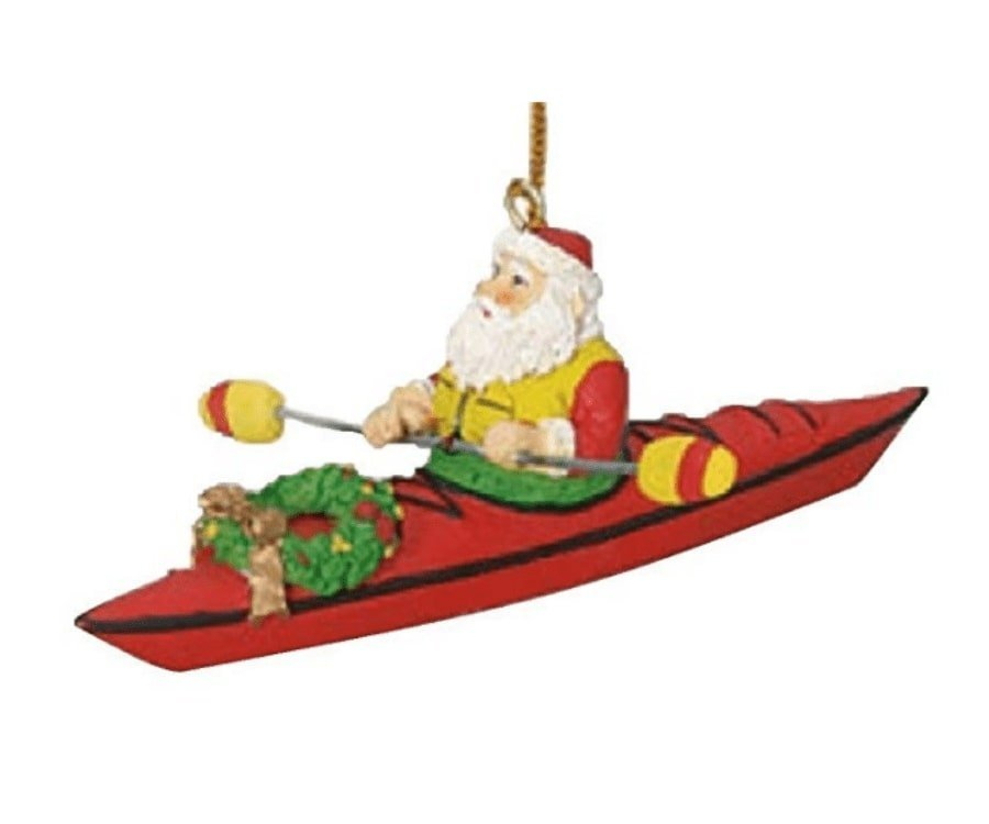#19 best gifts for kayakers: Santa On A Kayak Ornament