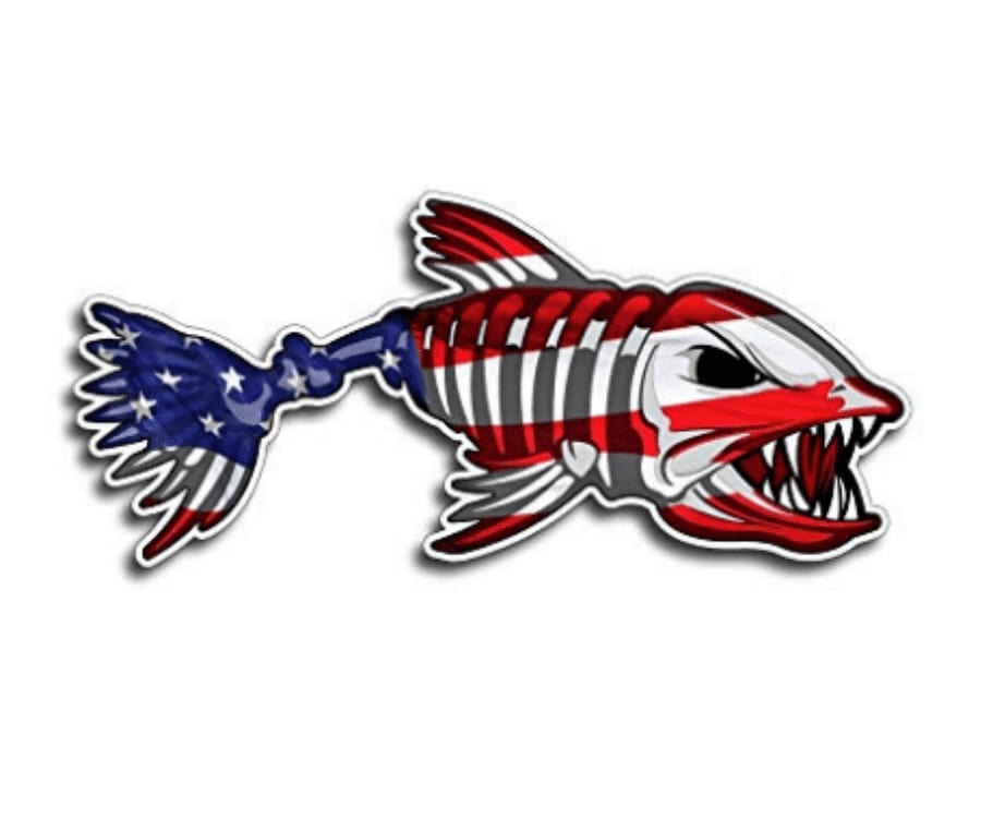 #20 best gifts for kayakers: USA Bone Fish Sticker