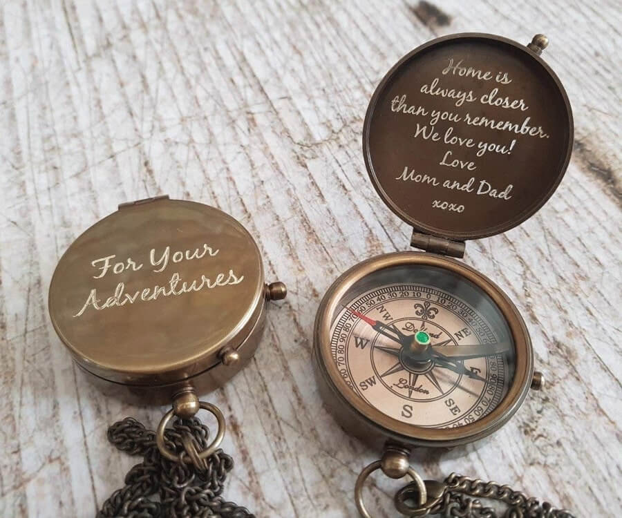 #39 Personalized Gifts for Him: engraved compass