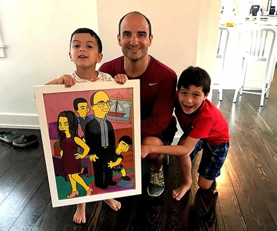 #2 best personalized gifts for him: Your Own Cartoon Family Portrait