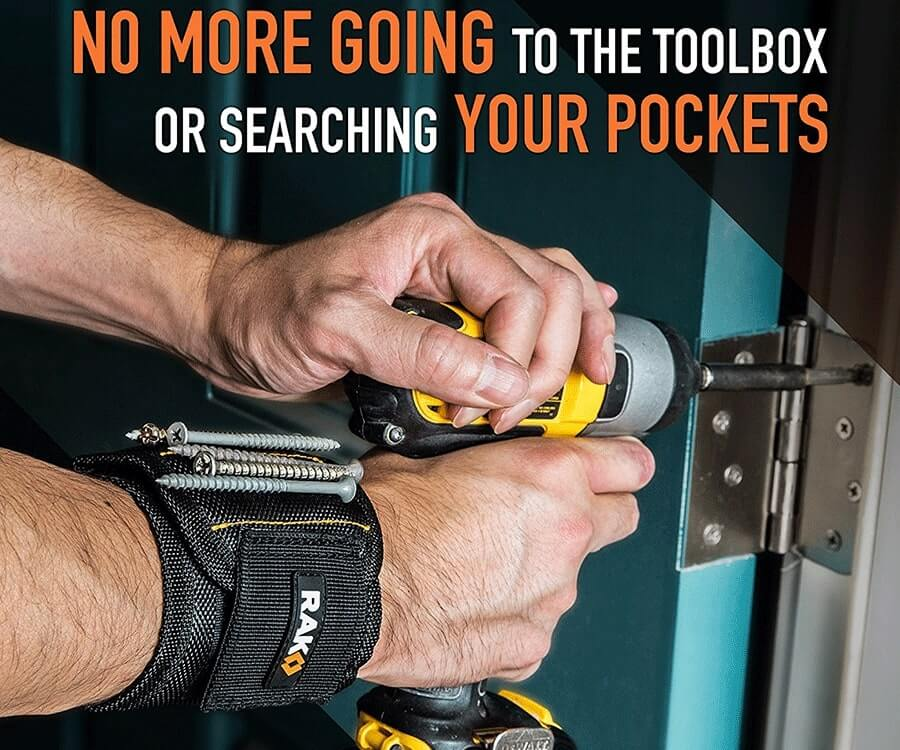 #1 gifts for handyman: Wristband for Holding Screws & Nails