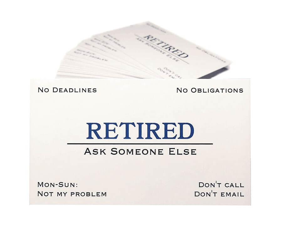 #14 great retirement gifts for men: retirement business cards