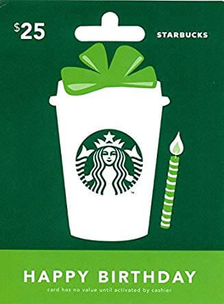 Example of a Gift Card: Starbucks