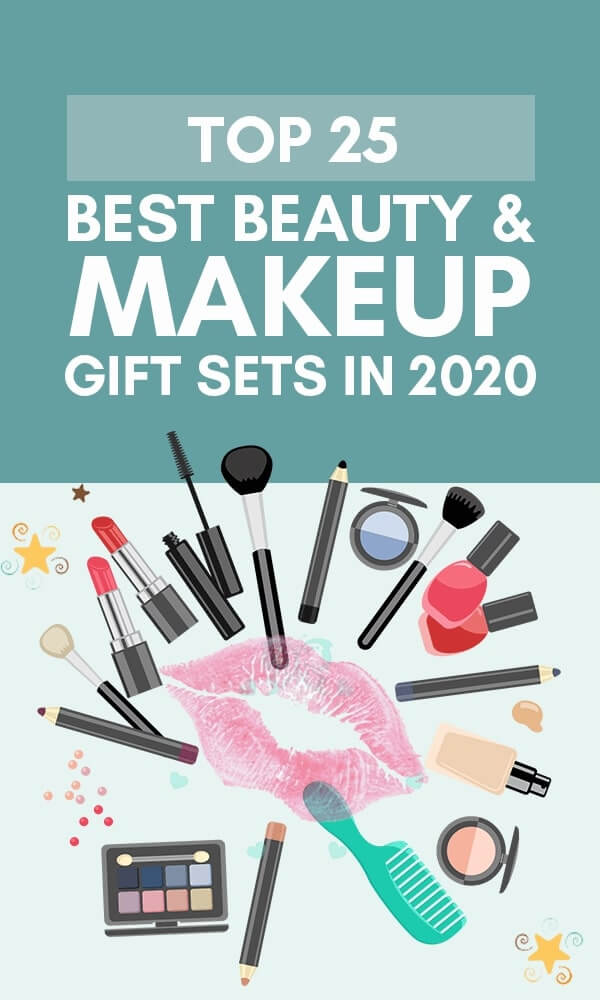 Title Infographic for our top 25+ hottest beauty & makeup gift sets for her