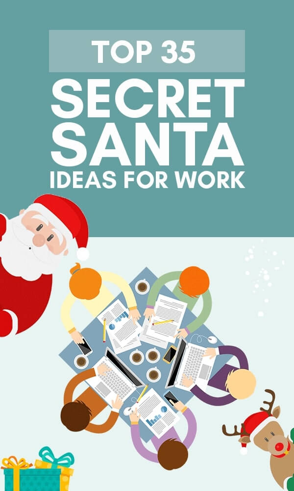 Title Infographic for our top Secret Santa ideas for work
