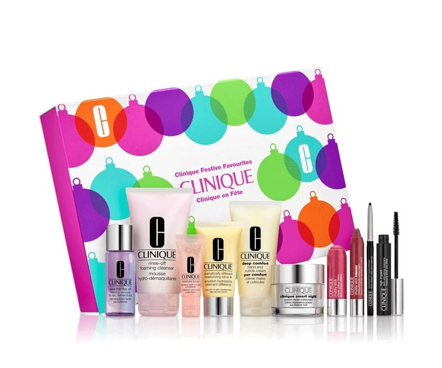 #26 beauty & makeup gift sets for her: clinique festive beauty gift set