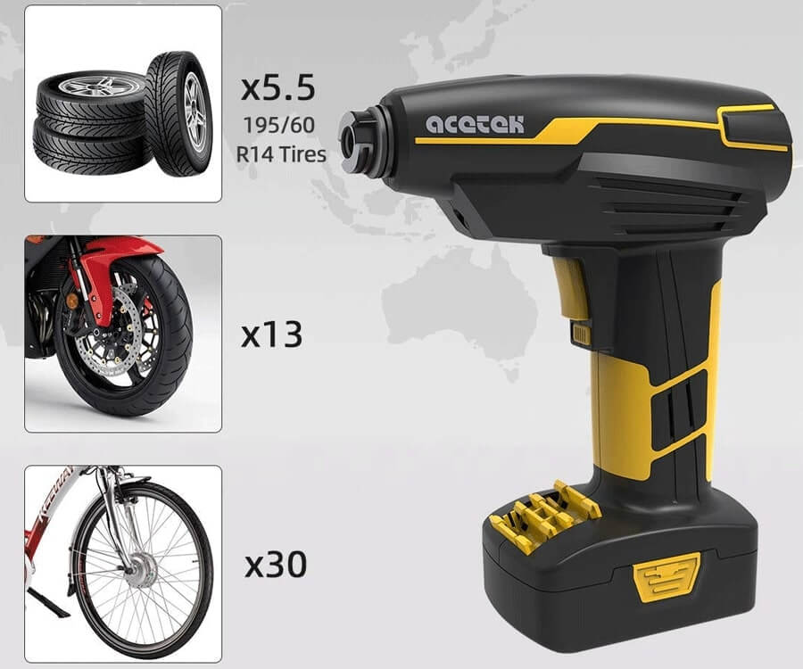 #31 cool gadgets for men: Portable Tire Inflator