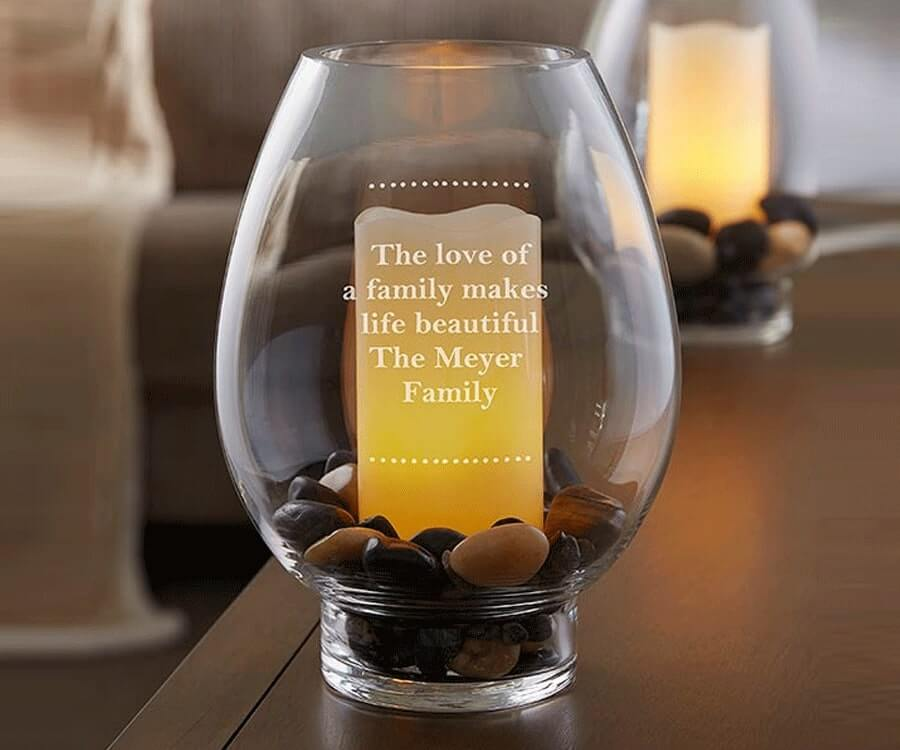 #27 Touching Gifts for women: Engraved Candle Holder