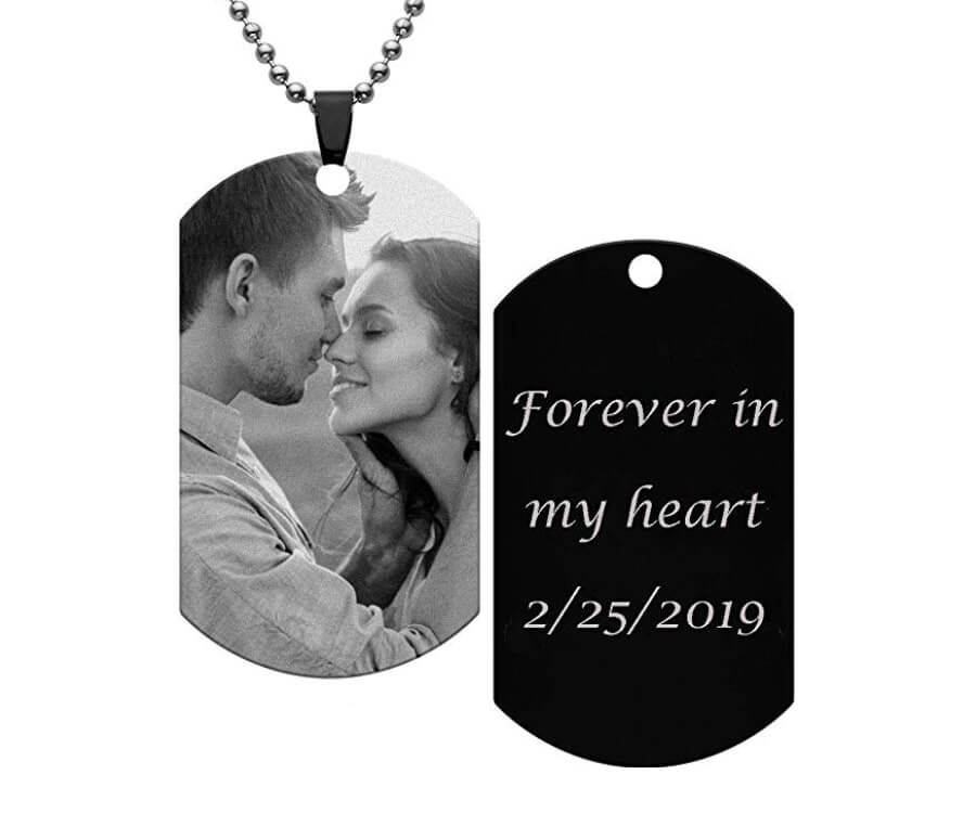 #23 Personalized Gifts for Him: picture dog tags