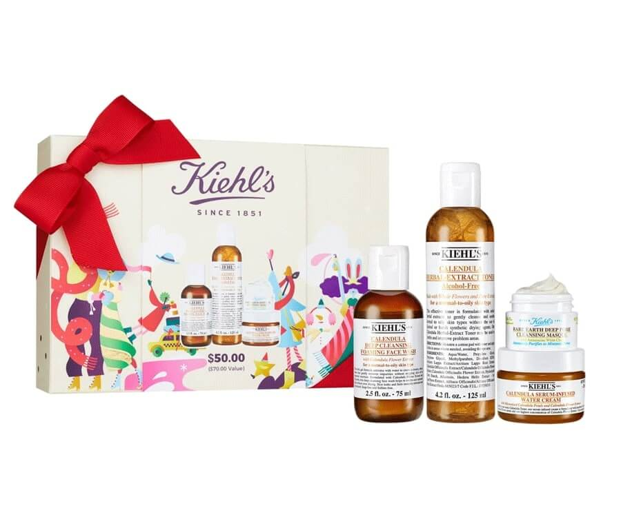 #27 beauty & makeup gift sets for her: Kiehl's Xmas beauty gift set